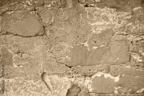 Canvas Prints Old dirty textured wall Grunge beige background