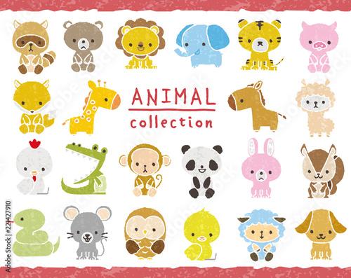 動物のセット 手描き風 Fototapet