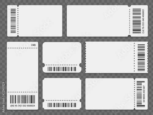 barcode ticket templates buy this stock vector and explore similar