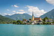 canvas print picture - Tegernsee mit Alpen in Deutschland im Sommer