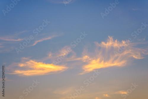 Fototapeta Clouds with blue sky background obraz na płótnie
