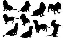 Basset Hound Dog Svg Files Cri...