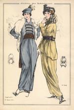 Gravure Le Journal Des Demoiselles Du 1er Mars 1914 5248