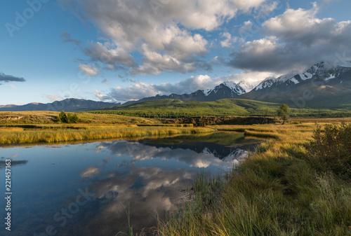 Printed kitchen splashbacks Reflection Nature of Altai mountains
