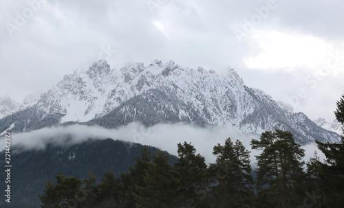 Fotografie, Obraz  whitewashed peak of a Dolomites mountain