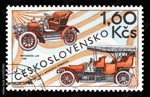 Fotografija  Laurin & Klement (1907), Czechoslovak car production serie, circa 1969