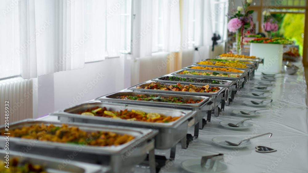 Fototapeta buffet food. catering food party at restaurant.