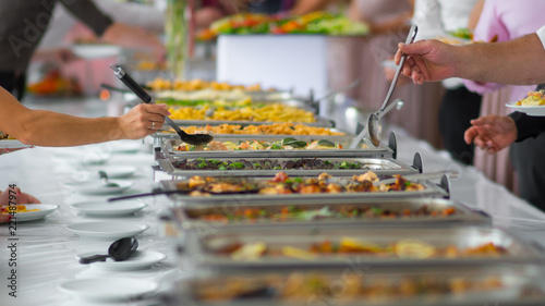 Fotografie, Obraz  buffet food. catering food party at restaurant.