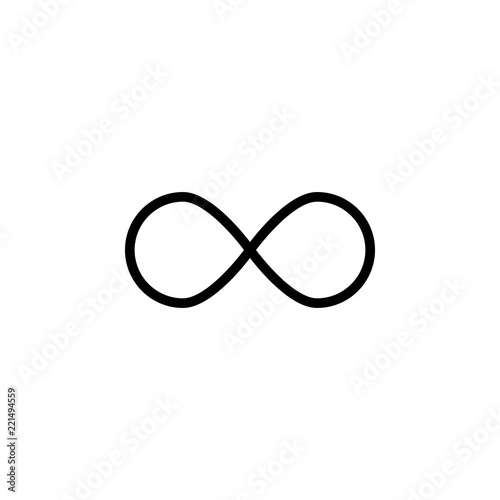 Fotografia Infinity sign outline icon