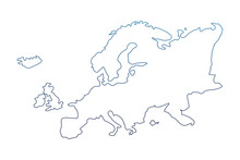 Degraded Line Europe Continent...