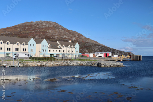 Foto auf AluDibond Port Hafen von Lochboisdale, Süd-Uist, Hebriden