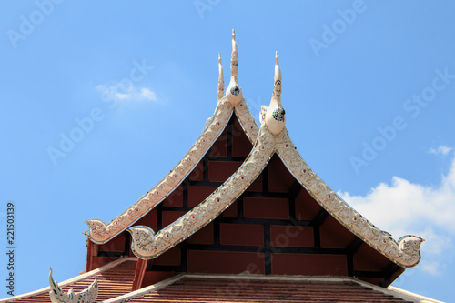 Foto op Plexiglas Bedehuis Wat Chai Mongkon - Buddhist Temple , Chiang Mai Thailand.
