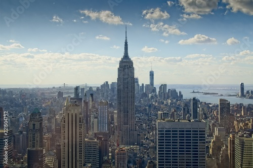 Photo Shot of the EMpire State's surroundings from the Top of the Rock