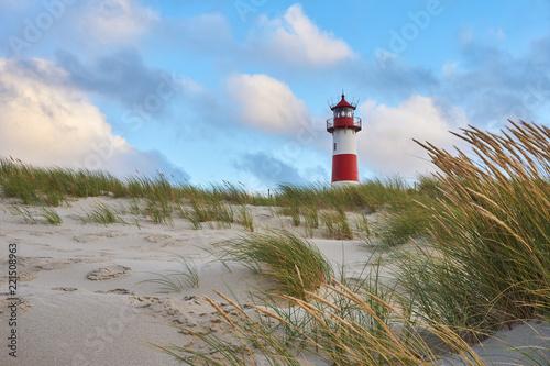 La pose en embrasure Europe du Nord Lighthouse List-Ost on the island Sylt