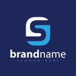 s letter square logo icon vector template