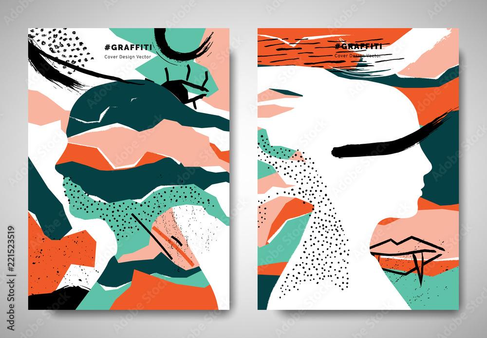 Fotografia Cover Invitation Card Template Design Ripped