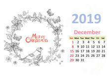 Happy Coloring Page. Calendar ...