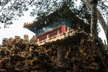 Tower In The Forbidden City In Winter Season.