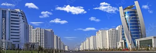 Photo Ashgabat, Turkmenistan - October 15, 2015: Modern architecture of Ashgabat