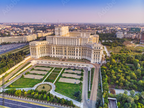 Cuadros en Lienzo Parliament building or People's House in Bucharest city