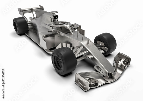 Recess Fitting F1 F1 car radiography / 3D render of an F1 car