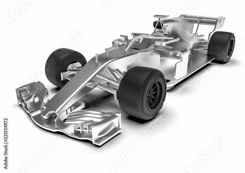 Ingelijste posters F1 F1 car radiography / 3D render of an F1 car