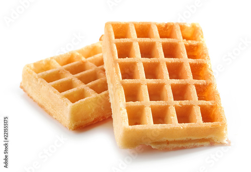 Fotomural  waffles on a white background