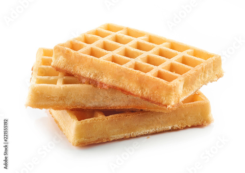 waffles on a white background