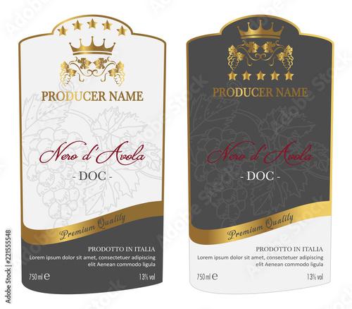Set of Wine Label Fototapeta