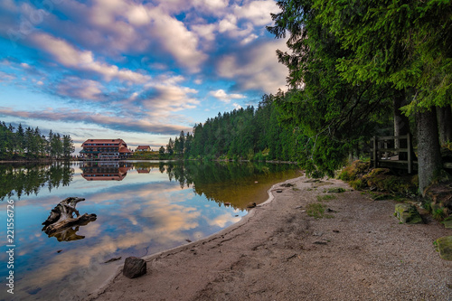 Photo Stands Lavender Mummelsee At Dawn, Black Forest / Schwarzwald Germany