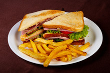 Club Sandwich With Ham