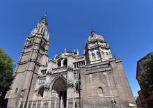 Toledo Cathedral Between The Narrow Streets Of Medieval City Of Toledo, Spain