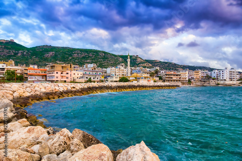 Scenic sea coast near Tripoli, Lebanon