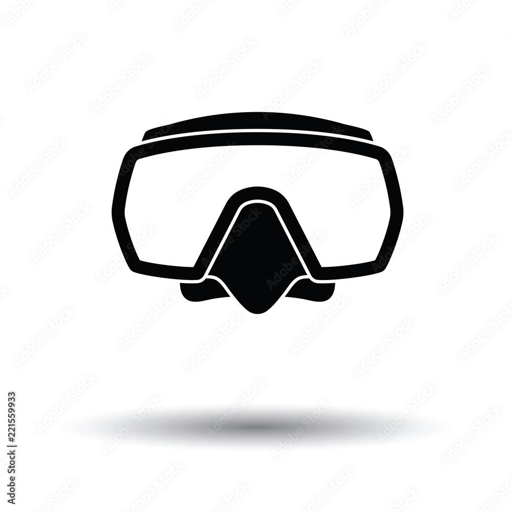 Fototapeta Icon of scuba mask