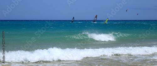 Spot de concours de planche à voile et kitesurfaux Canaries à Fuerteventura
