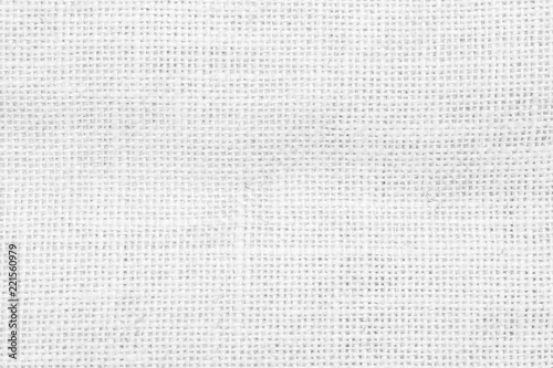 Obraz na plátně  Hessian jute sackcloth woven burlap flax texture background in white color