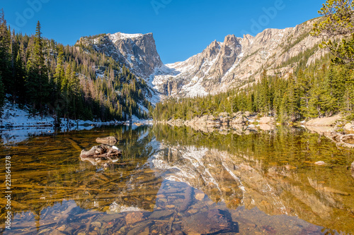 Poster Parc Naturel Dream Lake, Rocky Mountains, Colorado, USA.