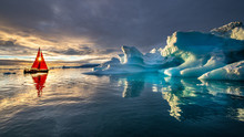 Greenland Midnight Sunset With...