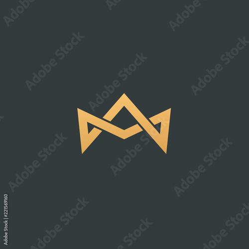Obraz na plátně Abstract vetor crown logo vector design