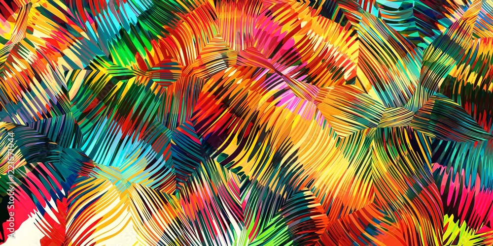 Fototapety, obrazy: abstract colorful background of line and color