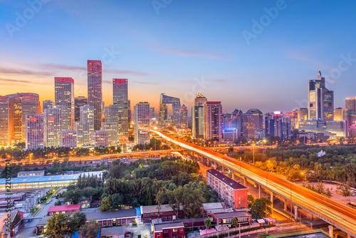 Keuken foto achterwand Peking Beijing, China Financial District Cityscape