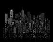 black city windows