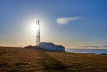 The Dyrholaey Lighthouse In Iceland