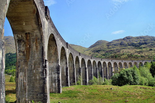 Photo  Glenfinnan Viadukt Viaduct Schottland Hogwarts Express