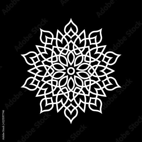 Photo  Mandala pattern white
