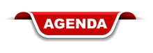 Red And White Banner Agenda