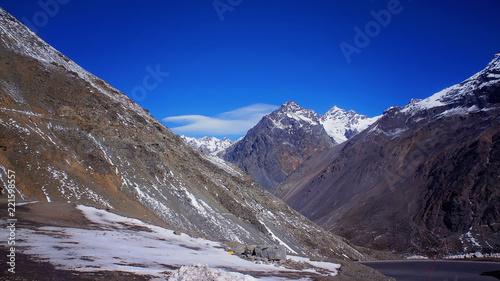 Foto op Aluminium Aubergine Aconcagua ski resort in Andes, Argentina