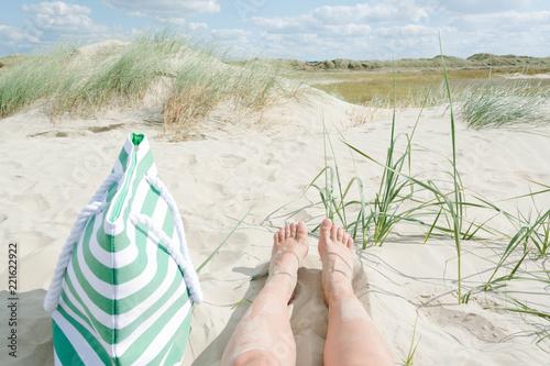 Obraz na plátně Urlaub an der dänischen Nordsee, Römö