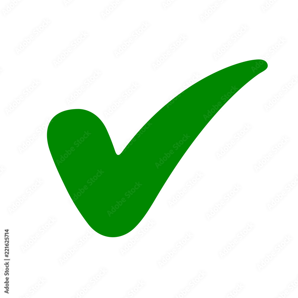 Fototapety, obrazy: Approval check icon, quality sign – for stock