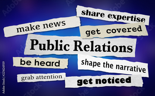Foto  Public Relations Get Attention News Coverage Headlines 3d Illustration